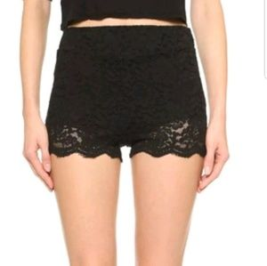 Free People Bikers Lace Shorts